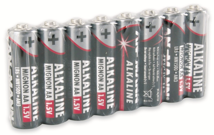 Ansmann Mignon Red Alkaline AA Batteries x8