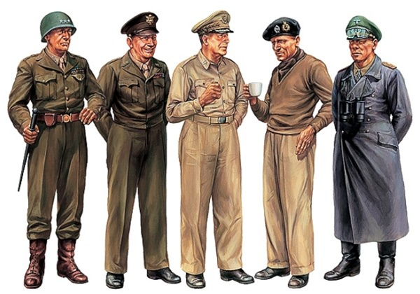 Fusion Hobbies Tamiya Wwii Famous Generals 32557 Plastic