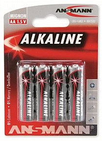 Ansmann Mignon Red Alkaline AA Batteries x4
