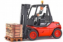 907093 Carson 1/14 RTR Linde H40D Forklift Truck with 2.4GHz Radio