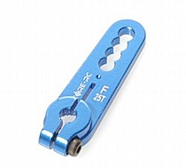 CR112 CORE RC Alloy Servo Arm - Futaba Blue