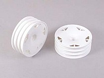51205 Tamiya 2WD Off Road Astral Dish Front Wheels x2 - White