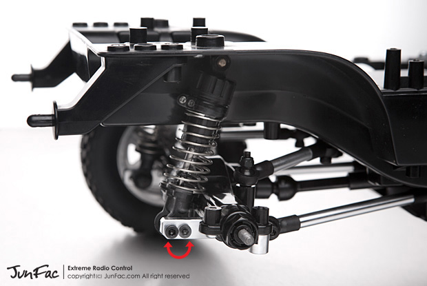 Fusion Hobbies Junfac Cc 01 4 Link Suspension Conversion