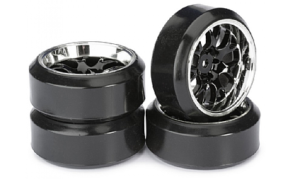 2510042 Absima Drift LP Comb Wheel & Tyre Set Black
