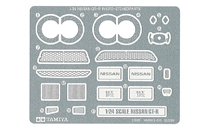 12623 Tamiya Nissan GT-R Photo Etch Parts