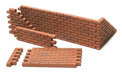 32508 Tamiya Brick Wall, Sand Bag & Barricade Set