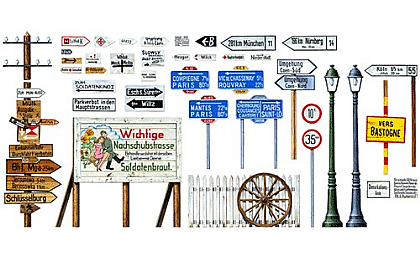 32509 Tamiya Road Sign Set