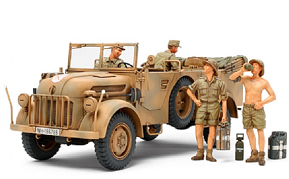 35305 Tamiya German Steyr Type 1500A/01 & Africa Corps Infantry at Rest