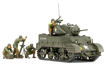 35313 Tamiya US Light Tank M5A1 with 4 Figures