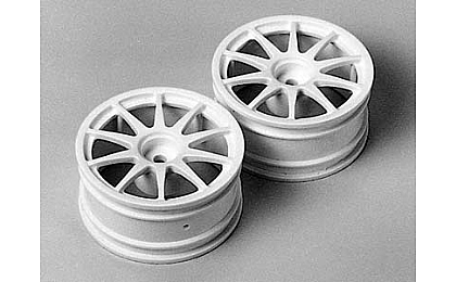 50732 Tamiya 10-Spoke One-Piece Wheels x2