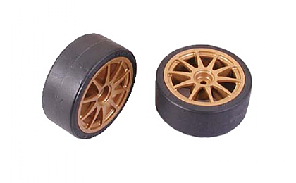 51219 Tamiya Drift Tyres Type D & Wheels x2