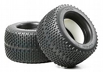 51303 Tamiya Oval Spike Tyre (150/80) with Inner Sponge x2