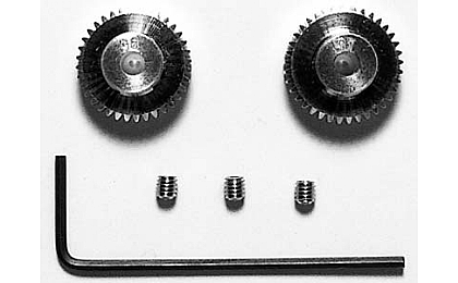 53406 Tamiya 36T/37T 0.4 Pinion Gear Set