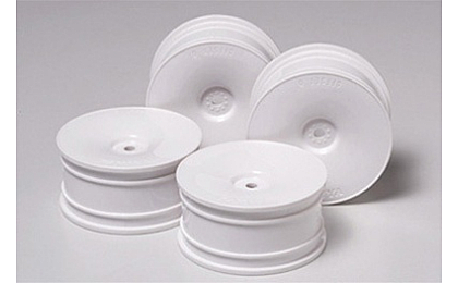 53914 Tamiya White Dish Wheels x4