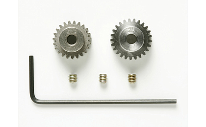 53922 Tamiya 23T/25T 0.5 Pinion Gear Set