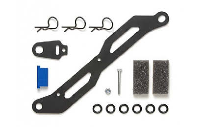 54555 Tamiya TT-02 FRP Battery Plate and Transponder Stay