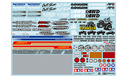 54630 Tamiya Sponsor Sticker Set - Off Road Car