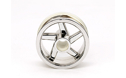 54823 Tamiya T3-01 Front Wheel - Chrome Plated